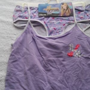 Girls 2pc Hanna Montana Bra/Pantie set.